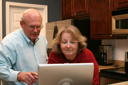 Senior Couple at Computer